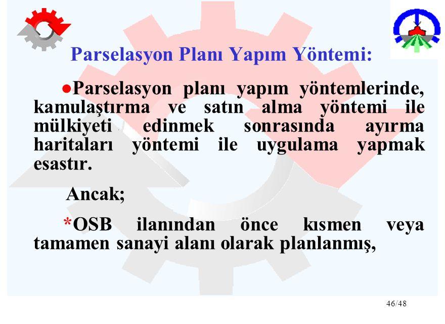 Parselasyon Planı Yapım Yöntemi: