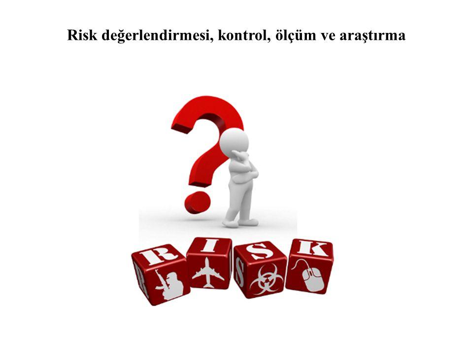 Risk değerlendirmesi, kontrol, ölçüm ve araştırma