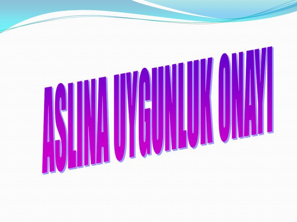 ASLINA UYGUNLUK ONAYI