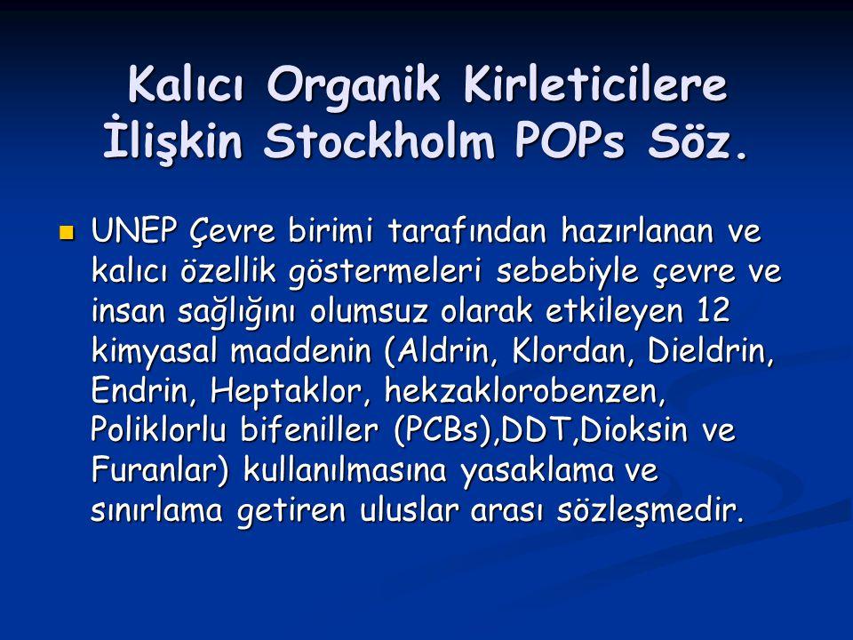 Kalıcı Organik Kirleticilere İlişkin Stockholm POPs Söz.