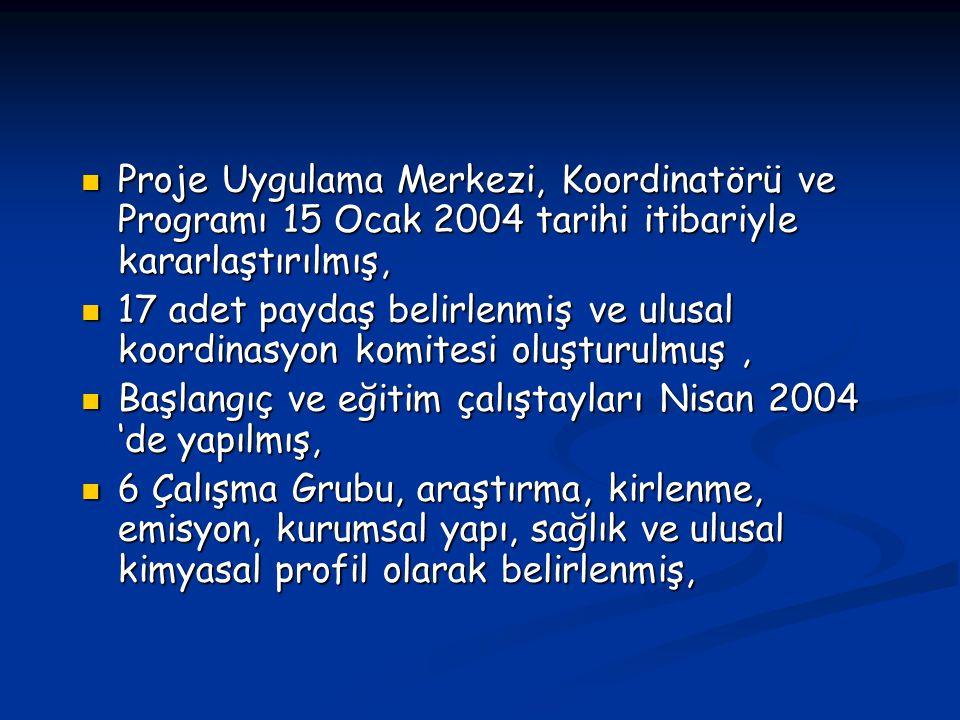 Proje Uygulama Merkezi, Koordinatörü ve Programı 15 Ocak 2004 tarihi itibariyle kararlaştırılmış,