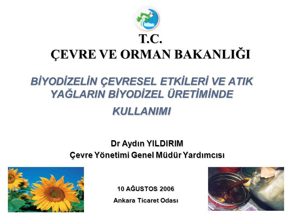 Dr Aydın YILDIRIM Çevre Yönetimi Genel Müdür Yardımcısı