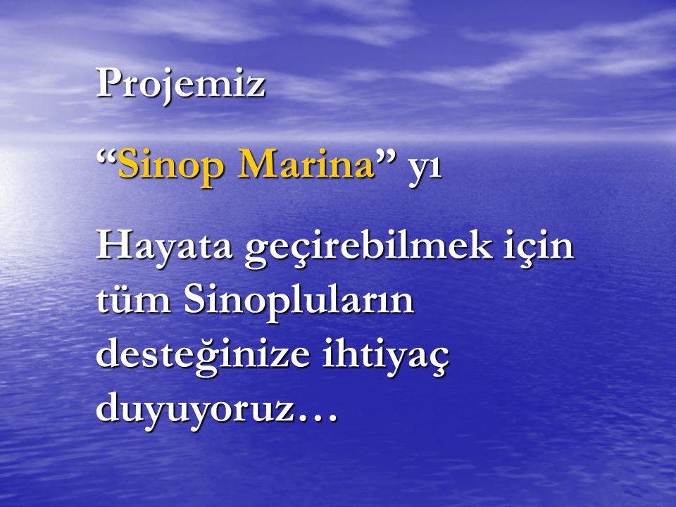 Projemiz Sinop Marina yı Hayata geçirebilmek için tüm Sinopluların desteğinize ihtiyaç duyuyoruz…