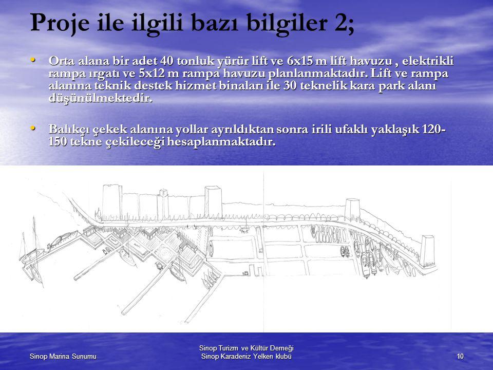 Proje ile ilgili bazı bilgiler 2;