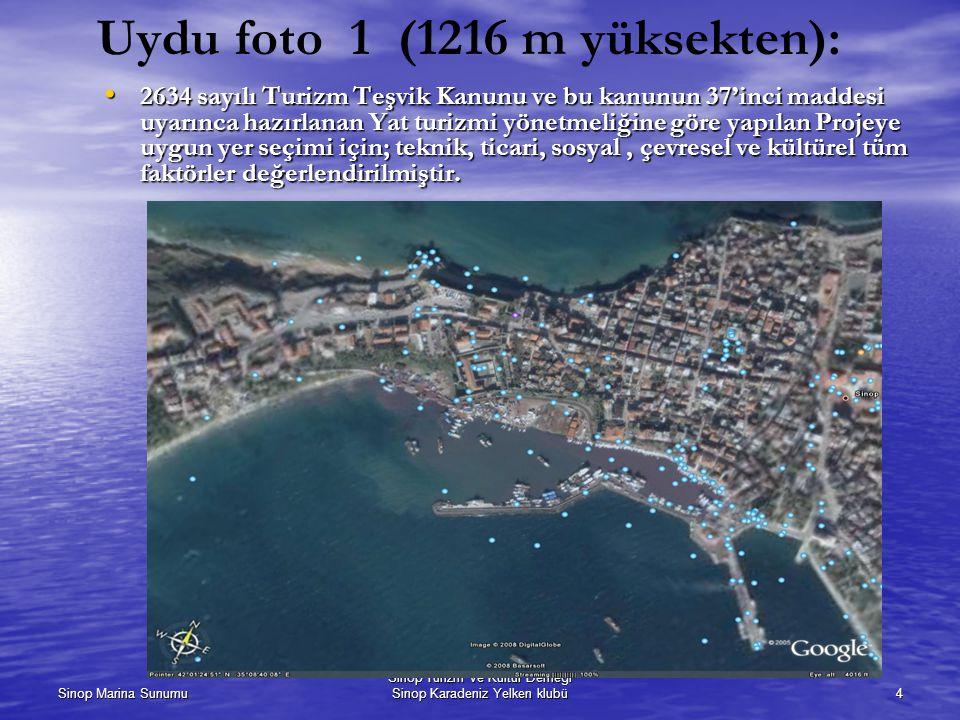 Uydu foto 1 (1216 m yüksekten):