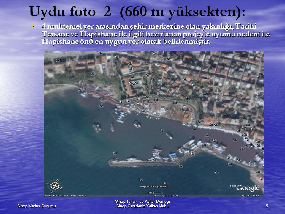 Uydu foto 2 (660 m yüksekten):