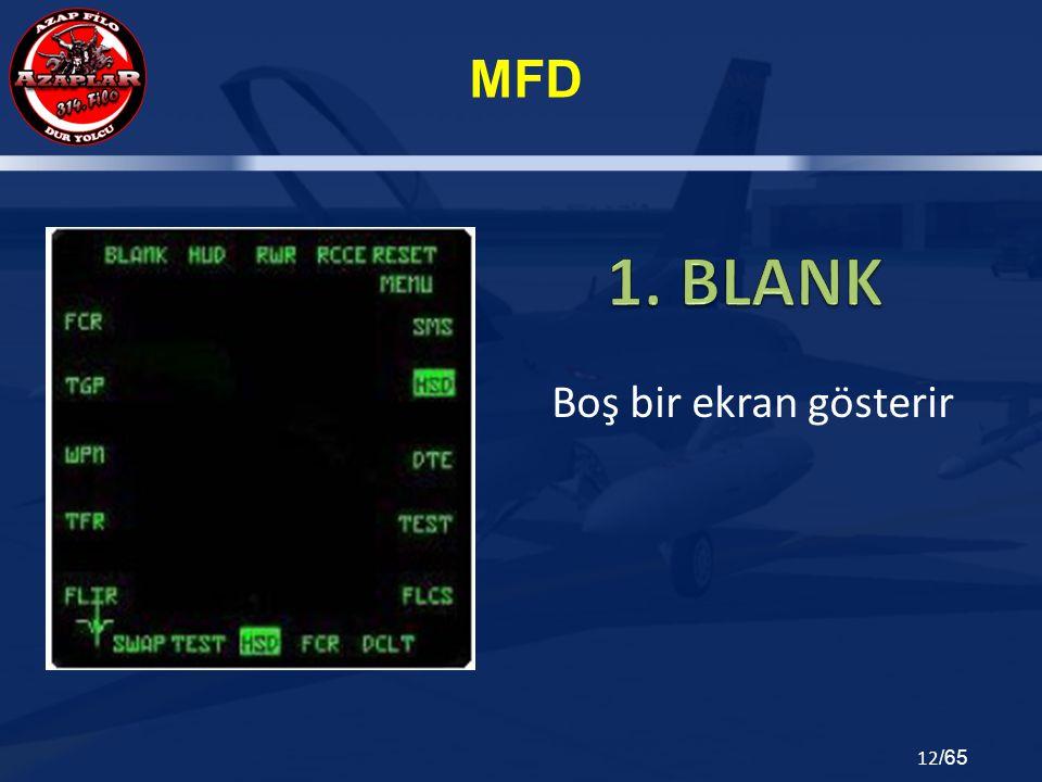 1. BLANK Boş bir ekran gösterir
