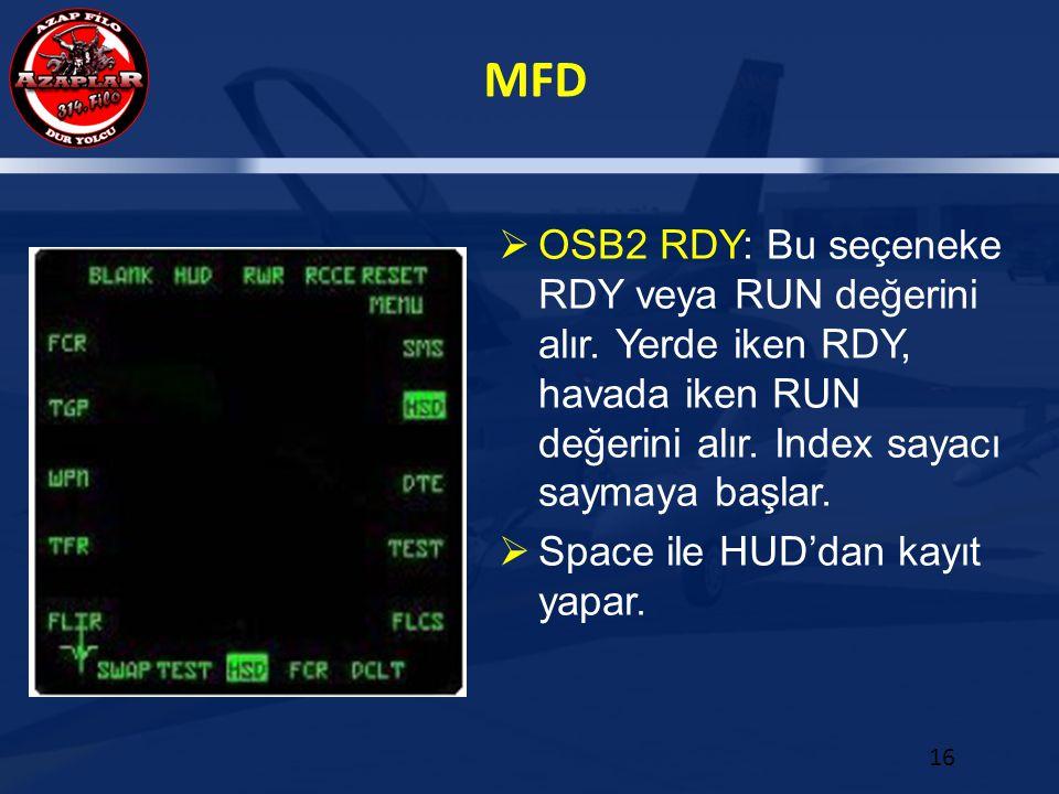 OSB2 RDY: Bu seçeneke RDY veya RUN değerini alır