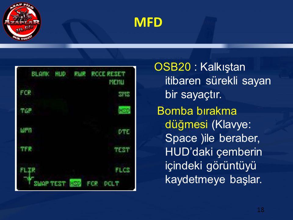 OSB20 : Kalkıştan itibaren sürekli sayan bir sayaçtır.