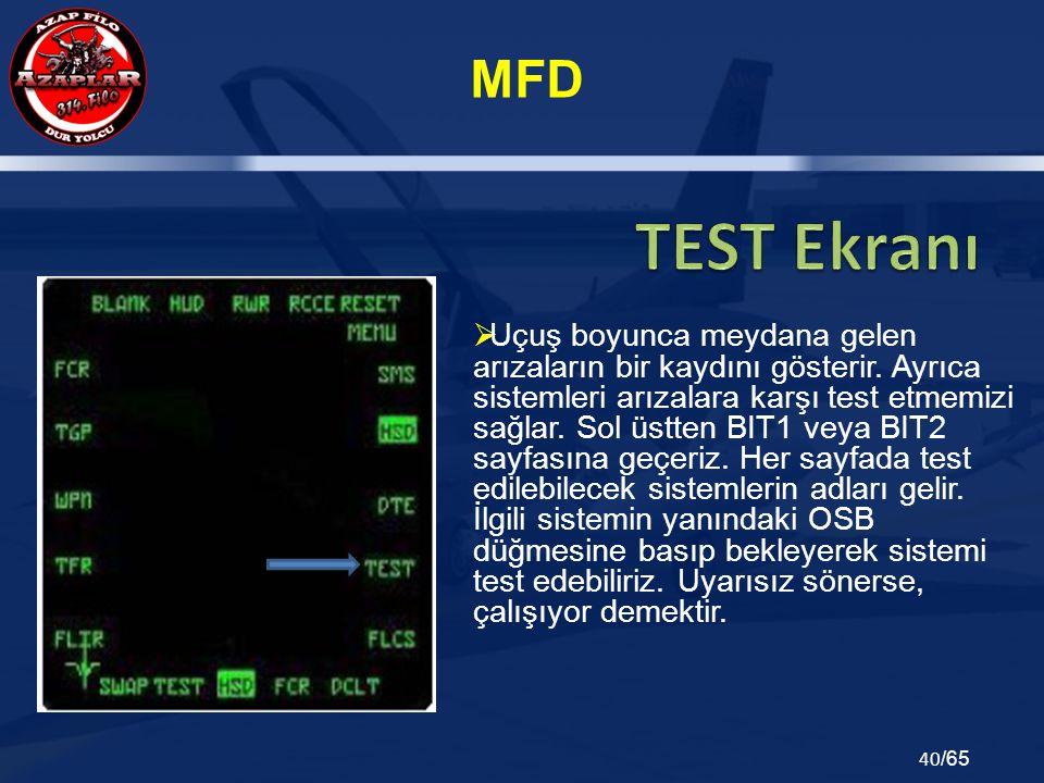 TEST Ekranı