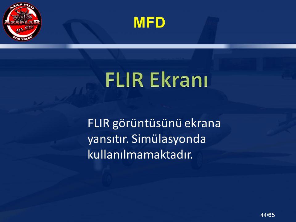FLIR görüntüsünü ekrana yansıtır. Simülasyonda kullanılmamaktadır.