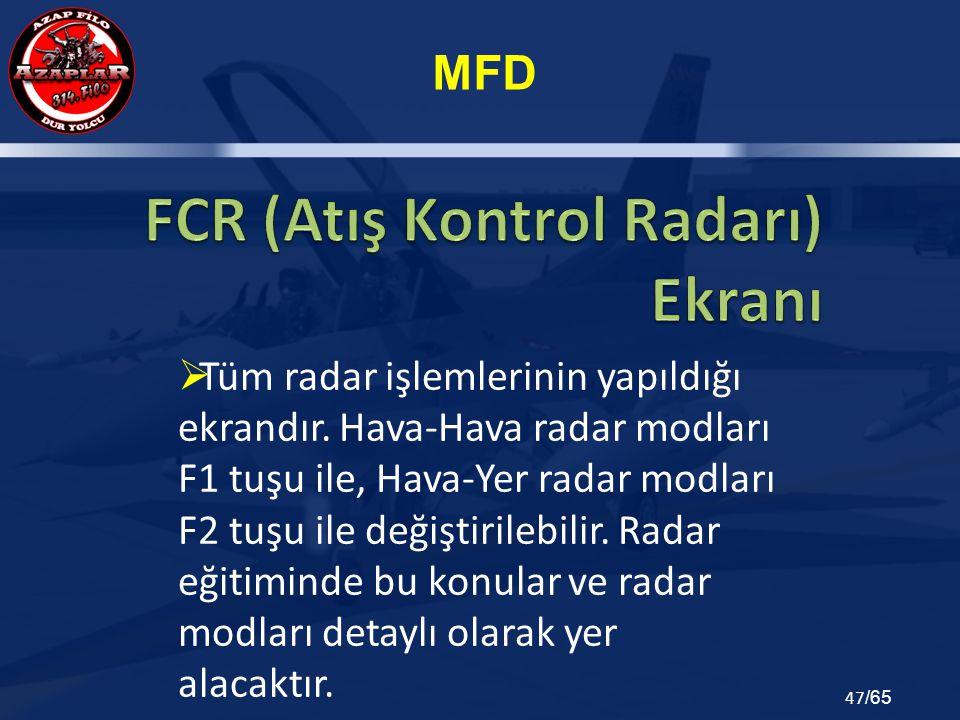FCR (Atış Kontrol Radarı) Ekranı
