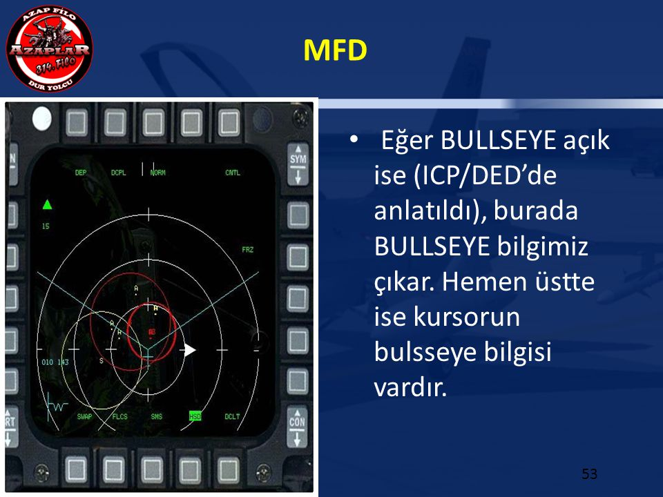 Eğer BULLSEYE açık ise (ICP/DED'de anlatıldı), burada BULLSEYE bilgimiz çıkar.