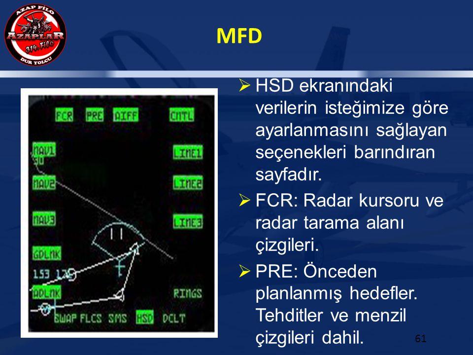 HSD ekranındaki verilerin isteğimize göre ayarlanmasını sağlayan seçenekleri barındıran sayfadır.
