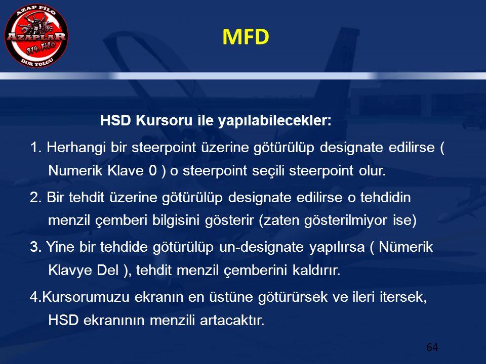 HSD Kursoru ile yapılabilecekler: 1