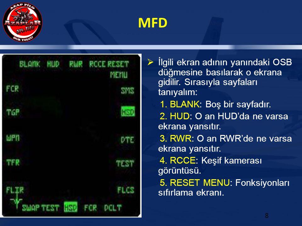İlgili ekran adının yanındaki OSB düğmesine basılarak o ekrana gidilir