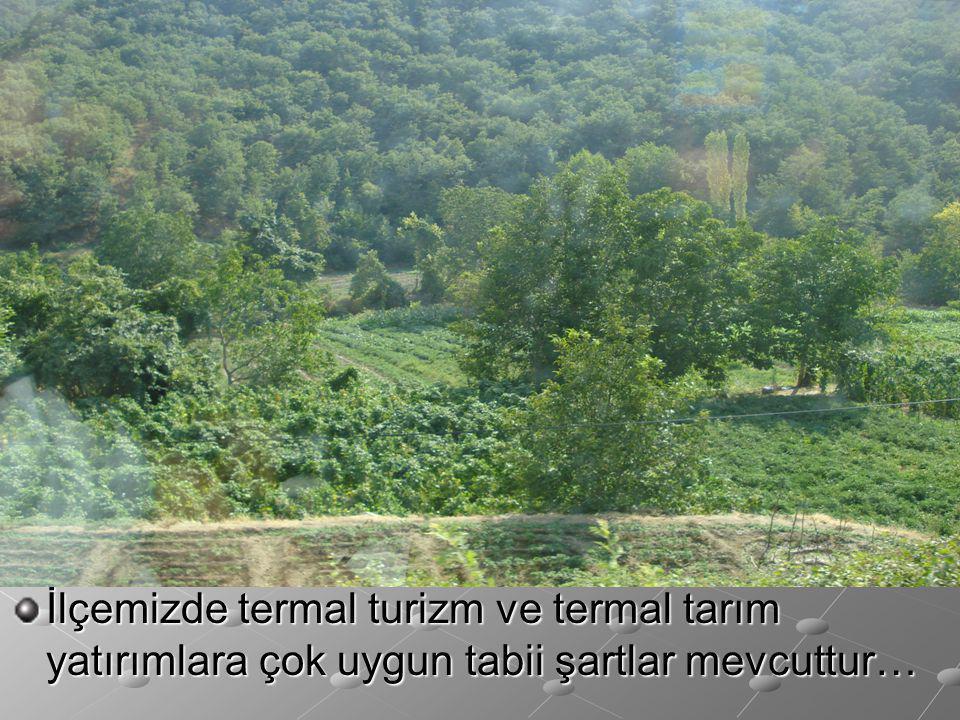 İlçemizde termal turizm ve termal tarım yatırımlara çok uygun tabii şartlar mevcuttur…