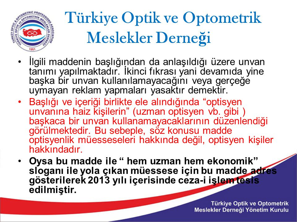 Türkiye Optik ve Optometrik Meslekler Derneği
