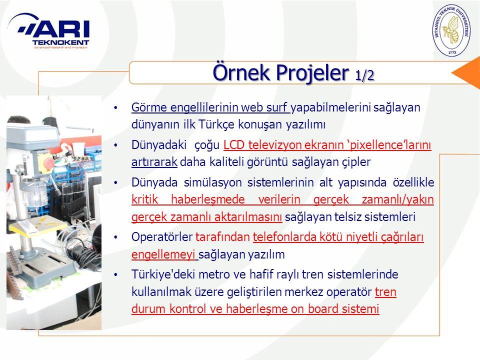 Örnek Projeler 1/2 Görme engellilerinin web surf yapabilmelerini sağlayan dünyanın ilk Türkçe konuşan yazılımı.
