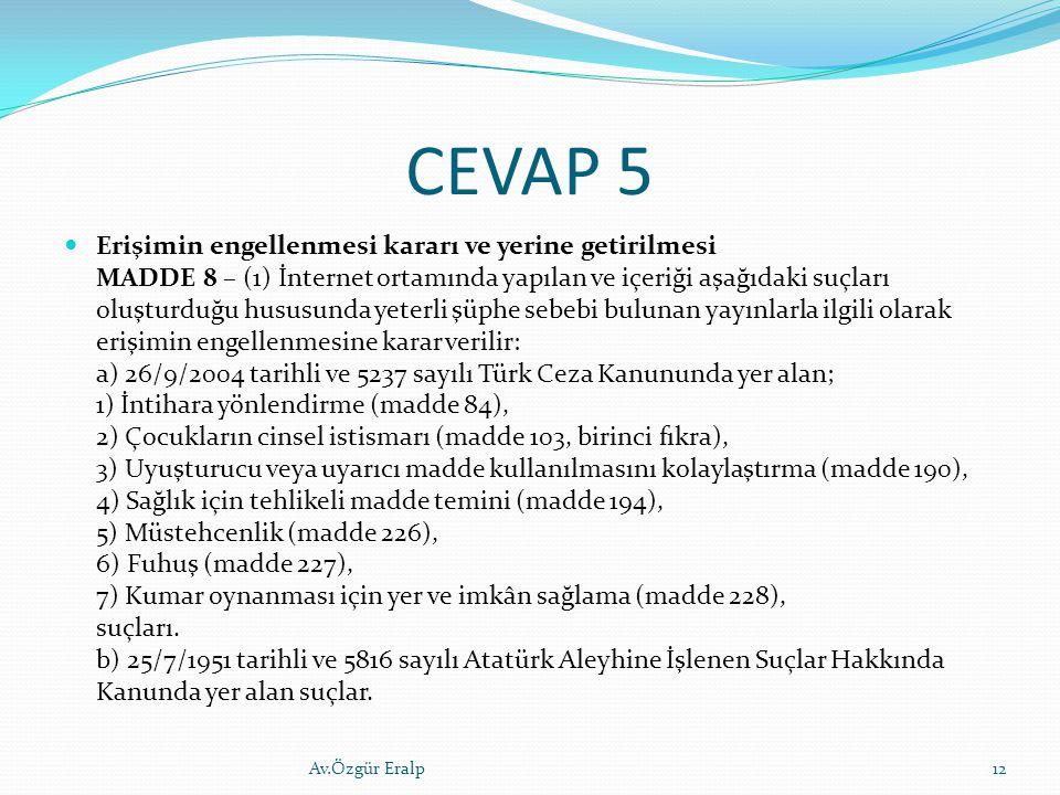 CEVAP 5