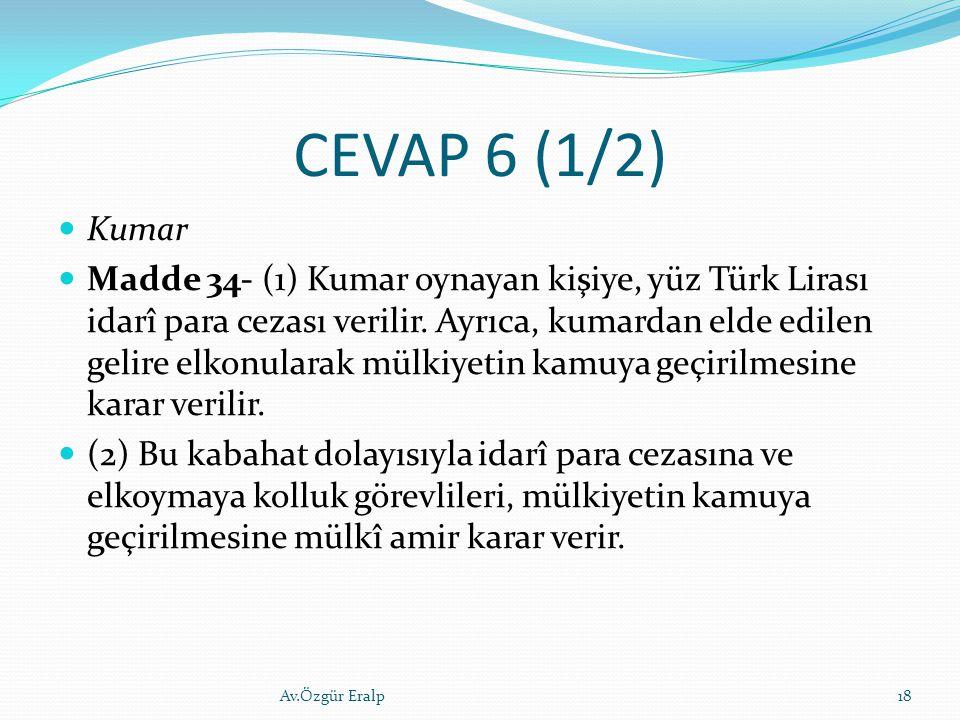CEVAP 6 (1/2) Kumar.