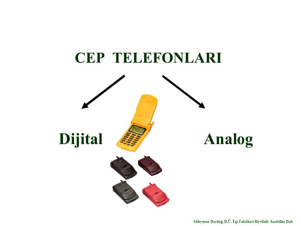 CEP TELEFONLARI Dijital Analog