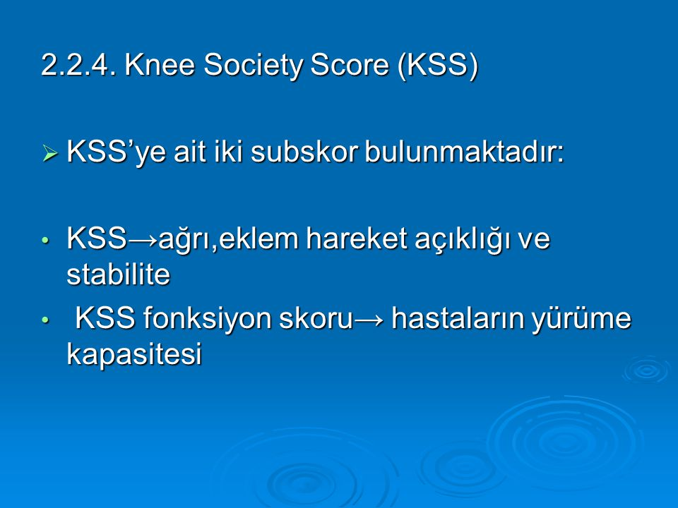 2.2.4. Knee Society Score (KSS)