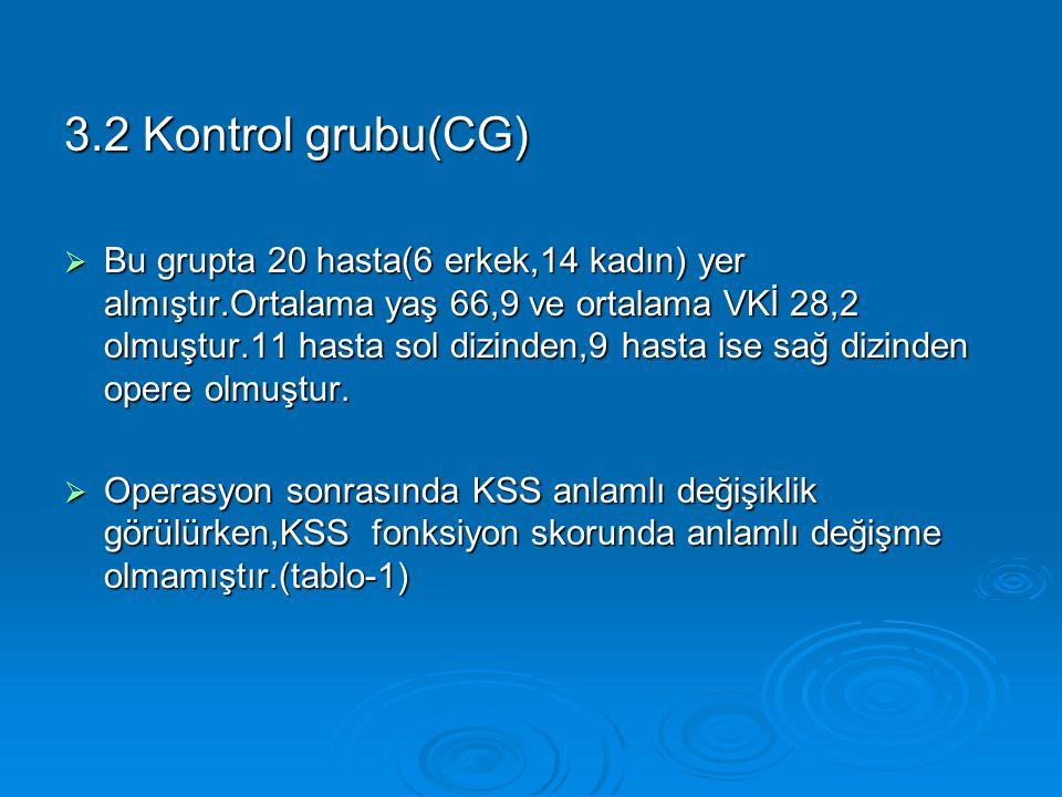 3.2 Kontrol grubu(CG)