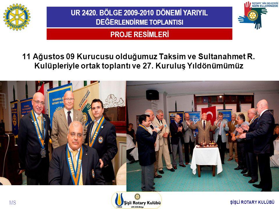 PROJE RESİMLERİ 11 Ağustos 09 Kurucusu olduğumuz Taksim ve Sultanahmet R. Kulüpleriyle ortak toplantı ve 27. Kuruluş Yıldönümümüz.