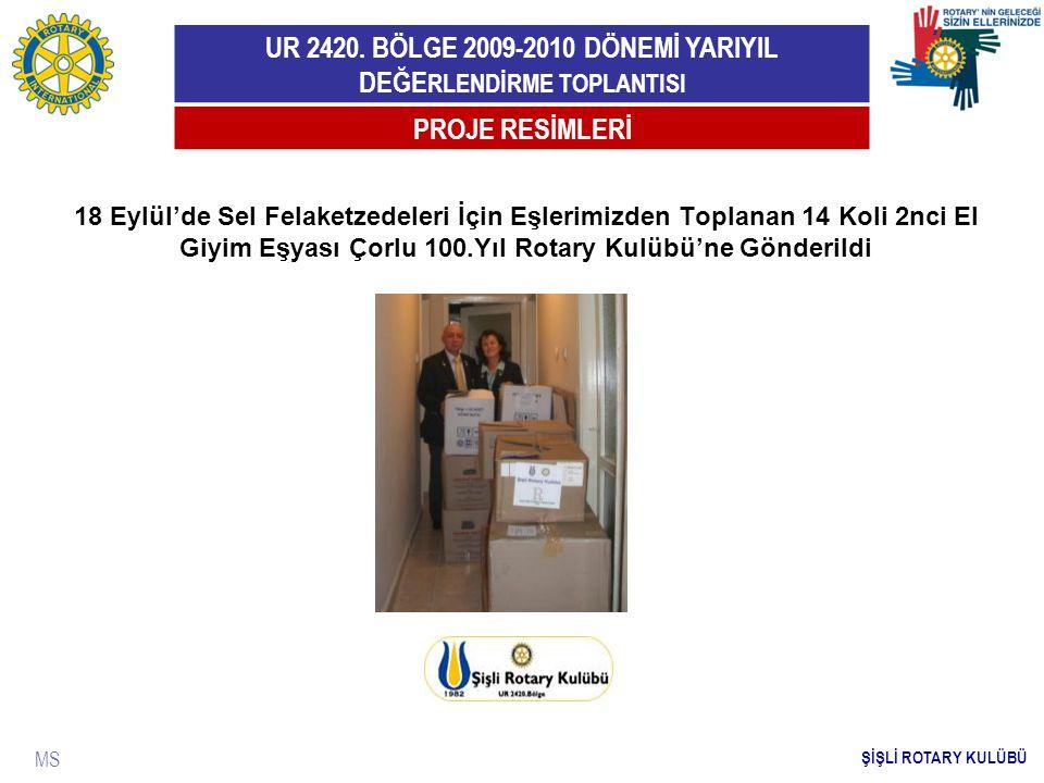PROJE RESİMLERİ 18 Eylül'de Sel Felaketzedeleri İçin Eşlerimizden Toplanan 14 Koli 2nci El Giyim Eşyası Çorlu 100.Yıl Rotary Kulübü'ne Gönderildi.