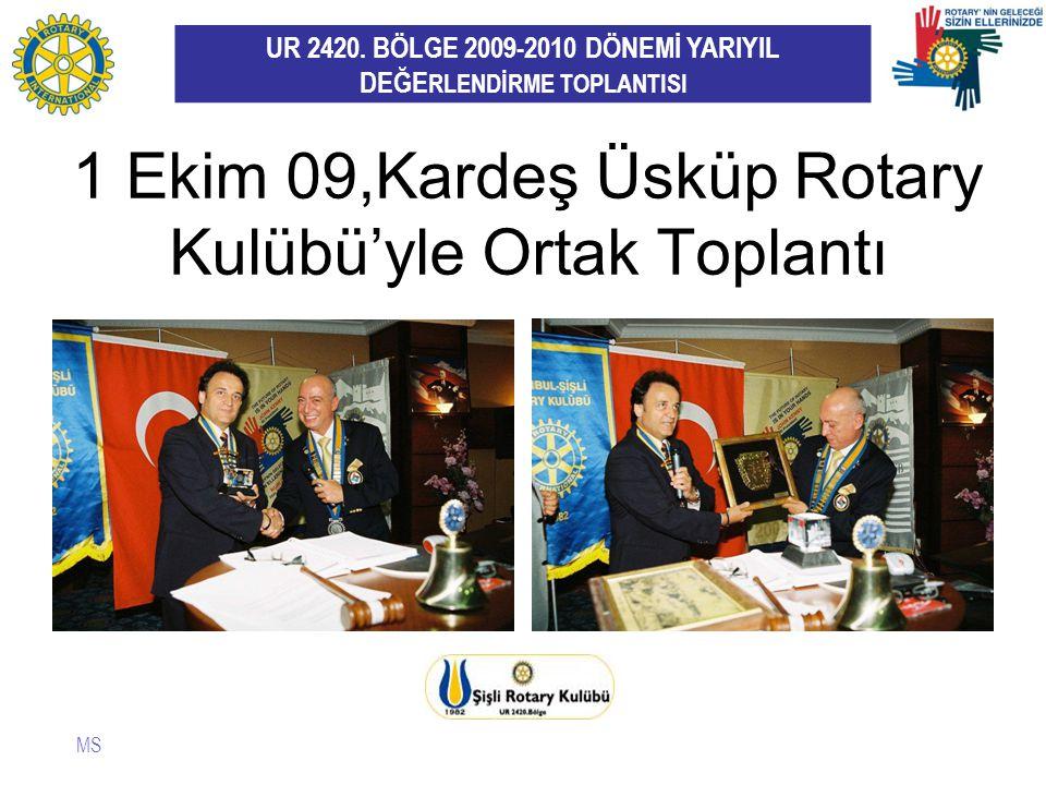 1 Ekim 09,Kardeş Üsküp Rotary Kulübü'yle Ortak Toplantı