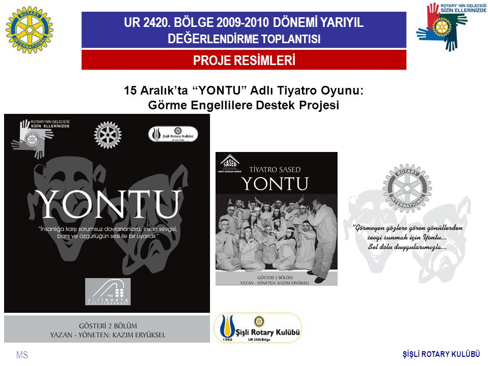 PROJE RESİMLERİ 15 Aralık'ta YONTU Adlı Tiyatro Oyunu: Görme Engellilere Destek Projesi.
