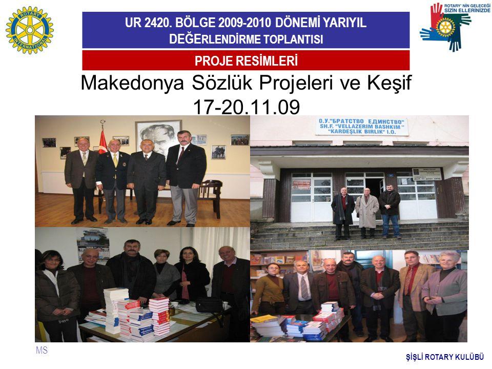 Makedonya Sözlük Projeleri ve Keşif 17-20.11.09