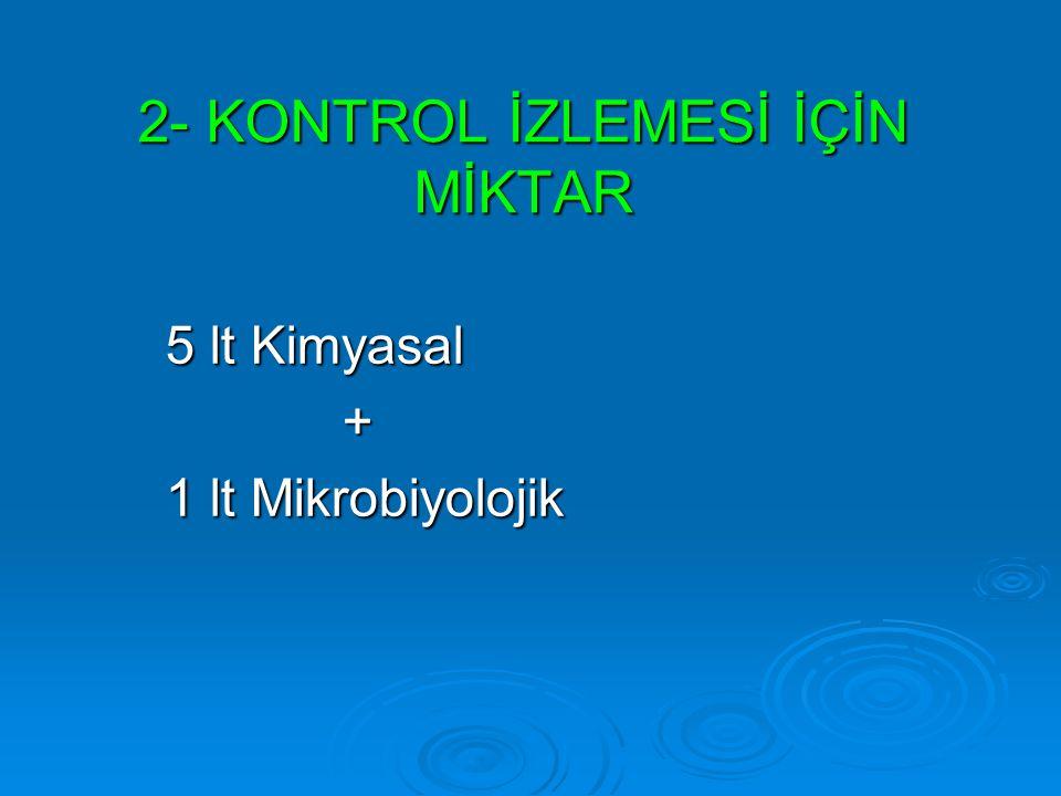 2- KONTROL İZLEMESİ İÇİN MİKTAR