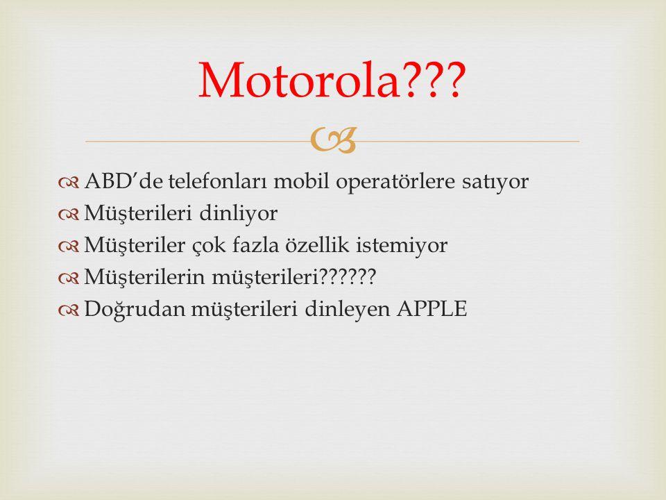 Motorola ABD'de telefonları mobil operatörlere satıyor
