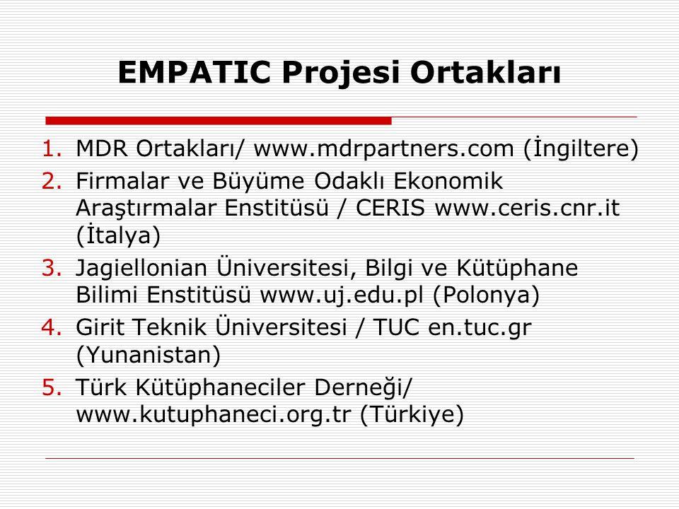 EMPATIC Projesi Ortakları