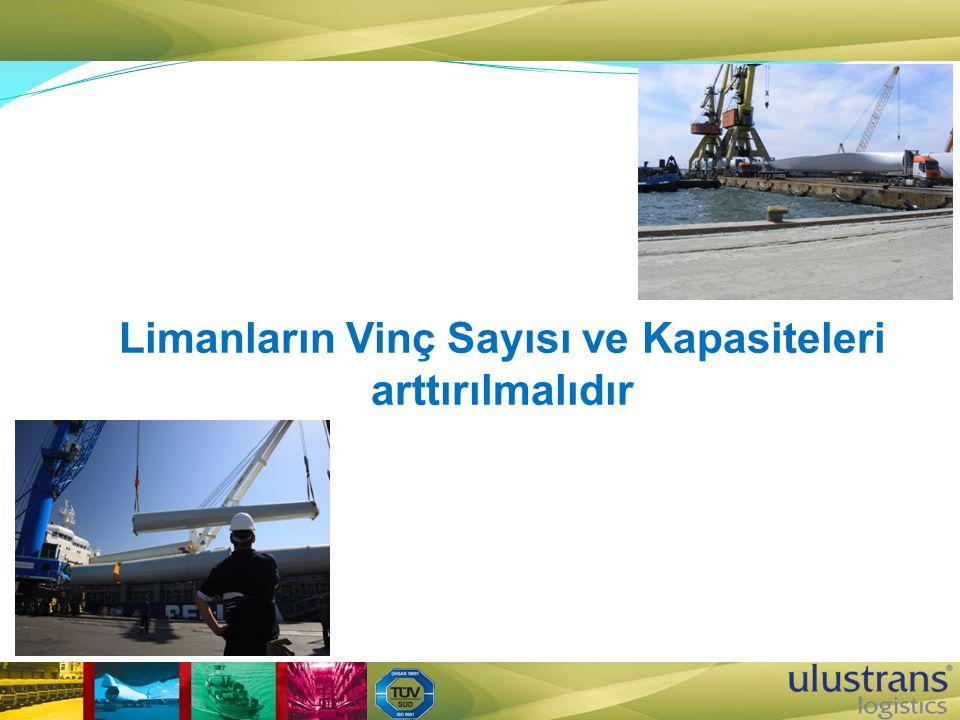 Limanların Vinç Sayısı ve Kapasiteleri arttırılmalıdır