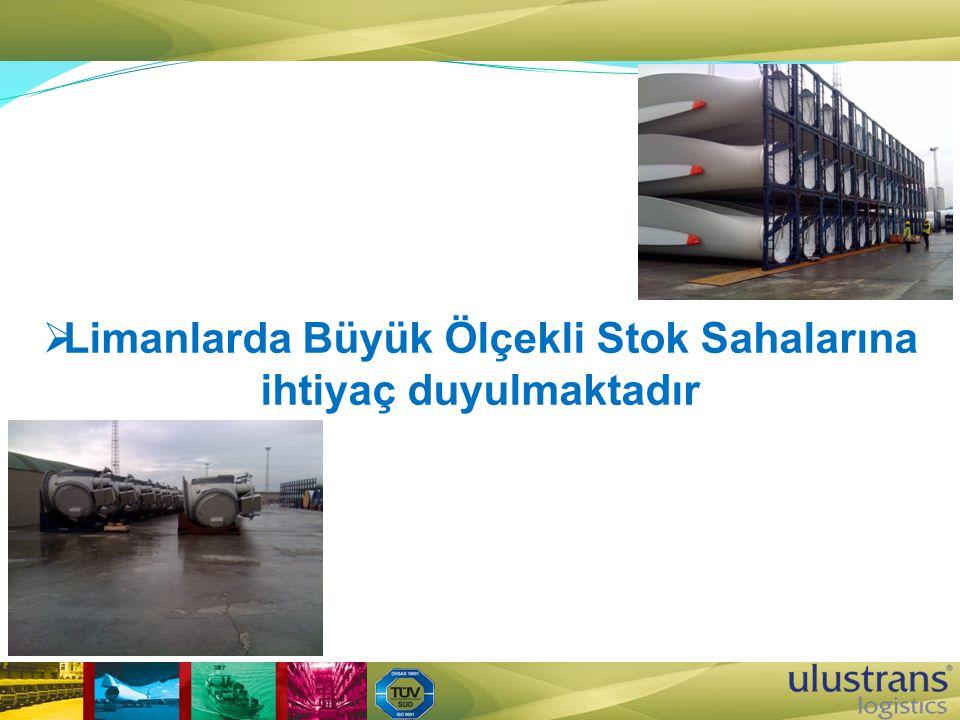 Limanlarda Büyük Ölçekli Stok Sahalarına ihtiyaç duyulmaktadır