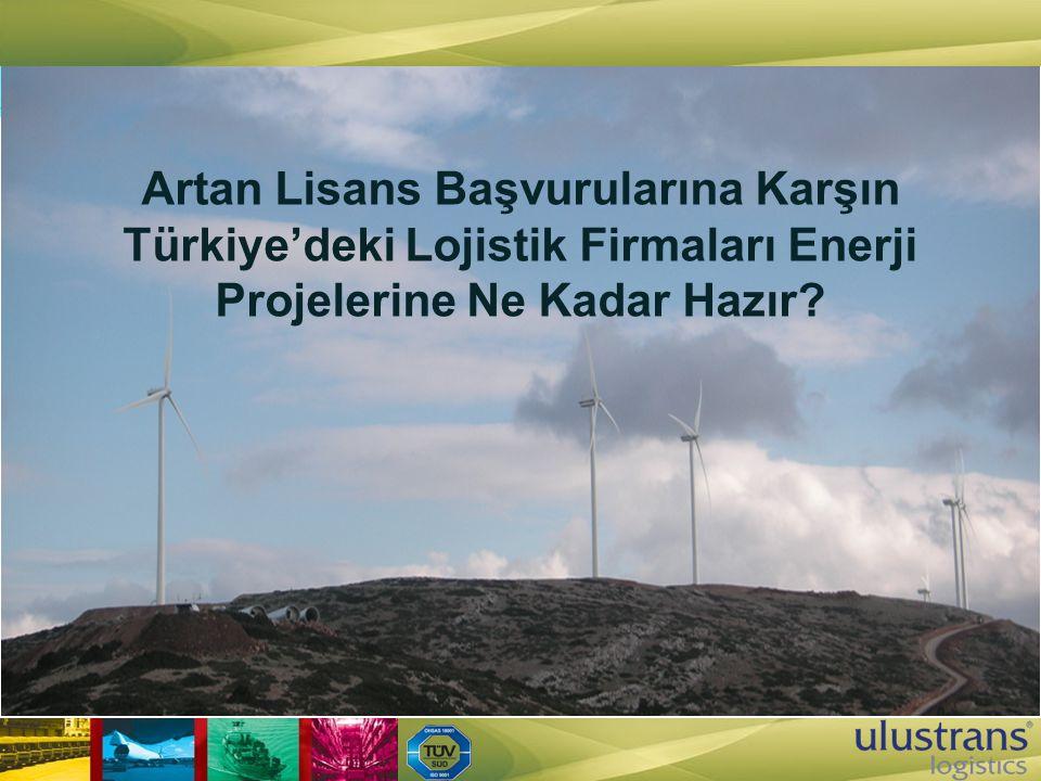 Artan Lisans Başvurularına Karşın Türkiye'deki Lojistik Firmaları Enerji Projelerine Ne Kadar Hazır