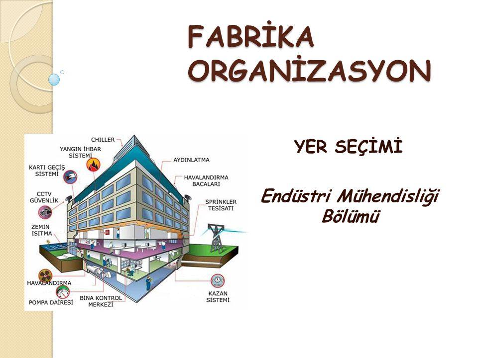 YER SEÇİMİ Endüstri Mühendisliği Bölümü