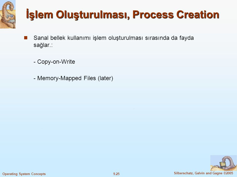 İşlem Oluşturulması, Process Creation