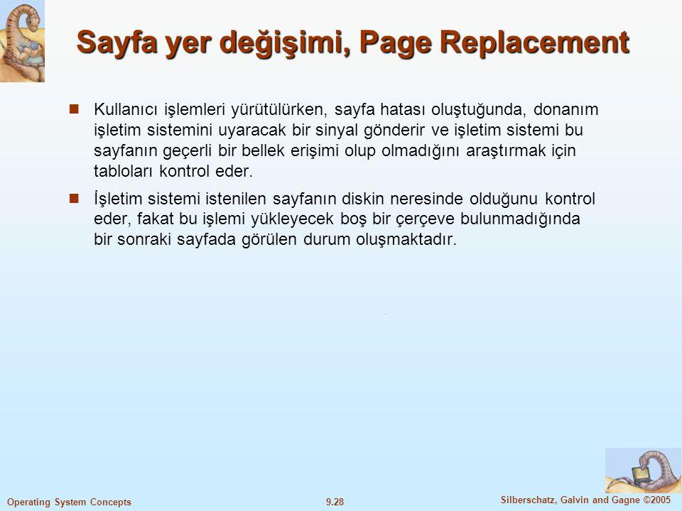 Sayfa yer değişimi, Page Replacement