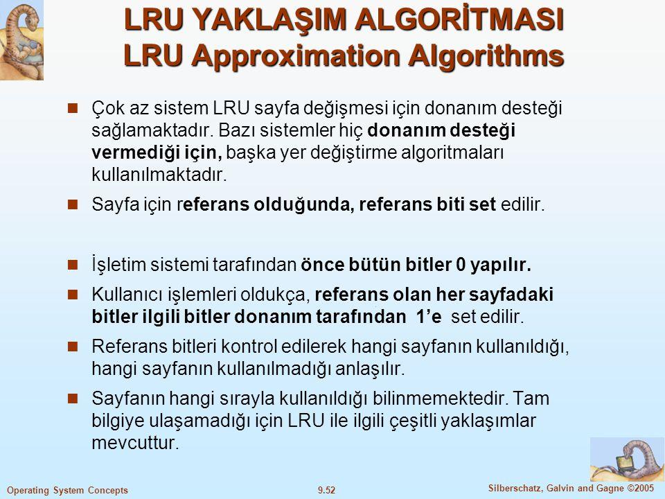LRU YAKLAŞIM ALGORİTMASI LRU Approximation Algorithms