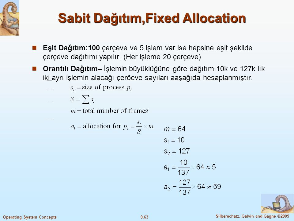 Sabit Dağıtım,Fixed Allocation