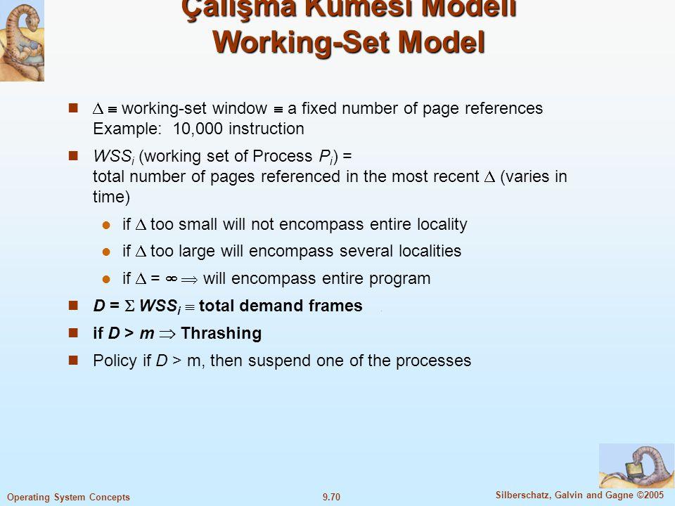 Çalışma Kümesi Modeli Working-Set Model