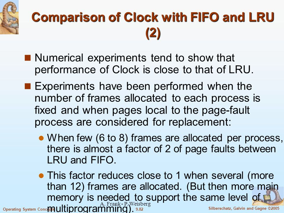 Comparison of Clock with FIFO and LRU (2)