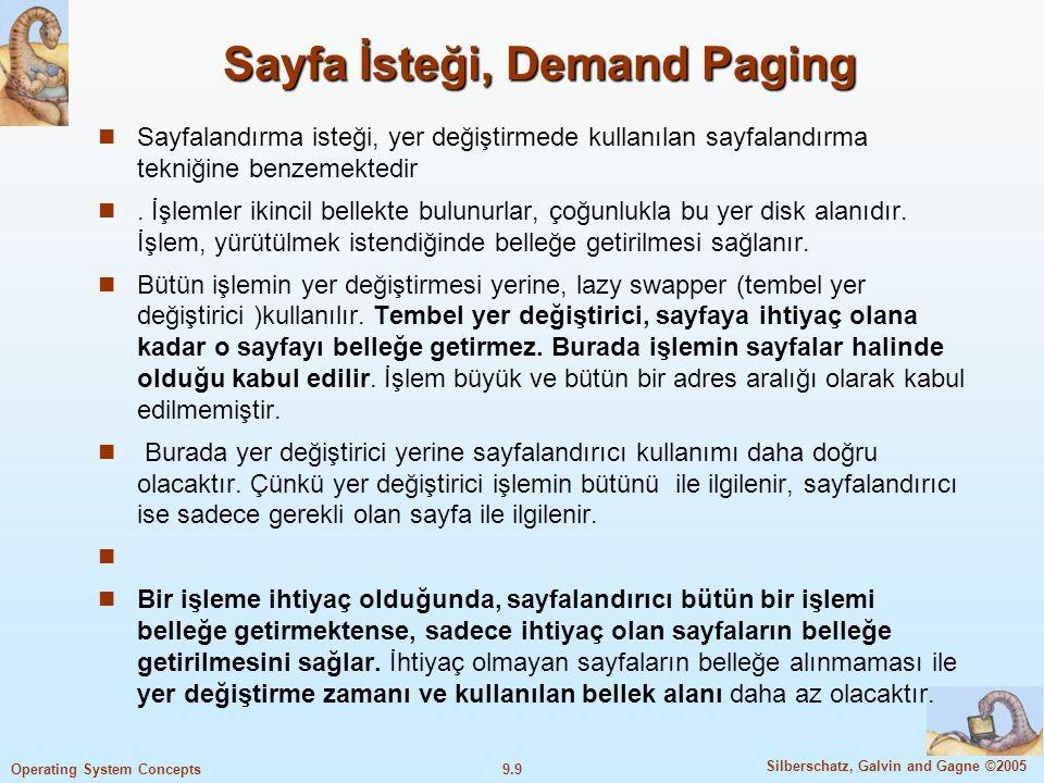 Sayfa İsteği, Demand Paging
