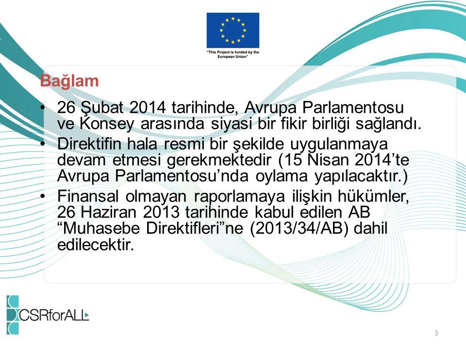 Bağlam 26 Şubat 2014 tarihinde, Avrupa Parlamentosu ve Konsey arasında siyasi bir fikir birliği sağlandı.