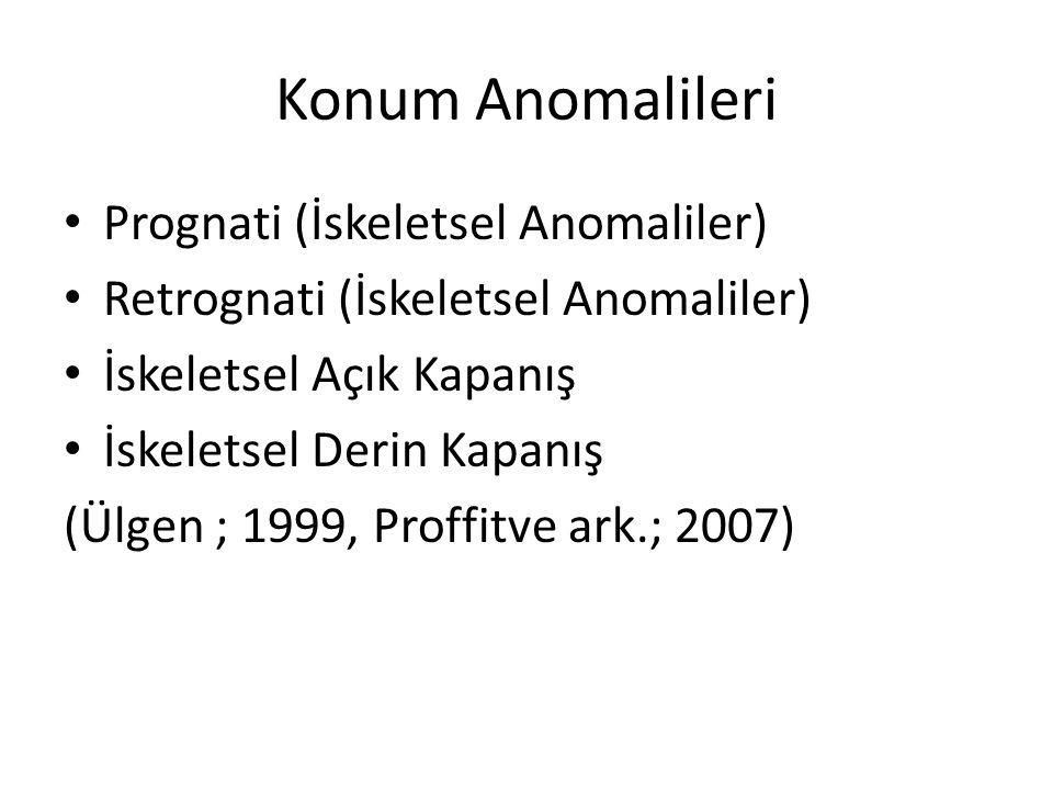 Konum Anomalileri Prognati (İskeletsel Anomaliler)