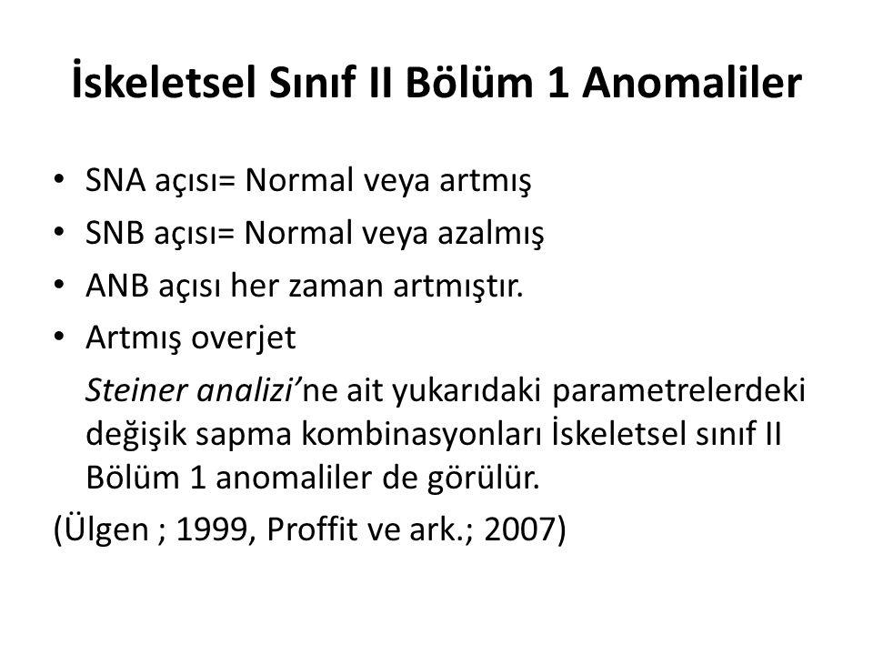 İskeletsel Sınıf II Bölüm 1 Anomaliler